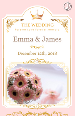 Create free mobile digital invitations youvivivd pink wedding stopboris Image collections