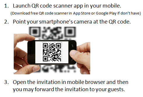 Free mobile digital invitations online maker youvivid how to scan qr code stopboris Image collections